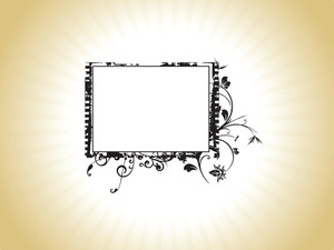 Retro Design Black Frame Flourish Theme