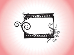 Retro Design Grunge Frame In Red