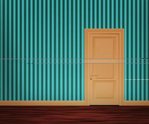 Retro Door In The Wall