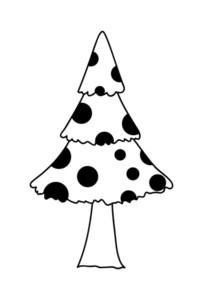 Retro Dotted Christmas Tree Design