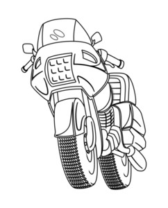 Retro Drawing Sports Bike