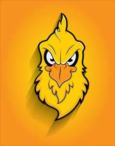 Retro Eagle Bird Face Mascot