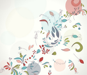 Retro Floral Background Vector Illustration