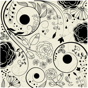 Retro Floral Background-