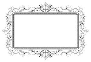 Retro Floral Frame Vector Illustration