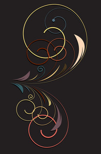 Retro Flourish Design Art
