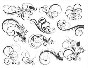 Retro Flourish Vector Designs
