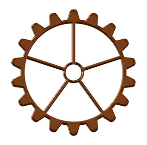 Retro Gear Wheel Vector