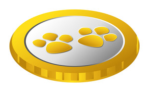 Retro Golden Paw Coin