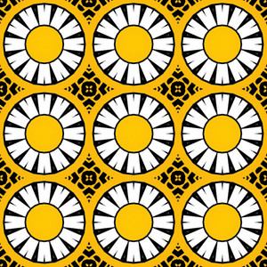 Retro Graphic Circles Pattern