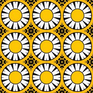 Retro Graphic Circles Pattern