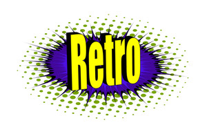 Retro Graphic Text Banner Design