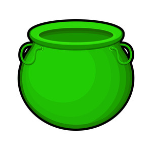 Retro Green Cauldron