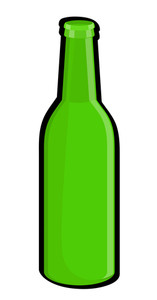 Retro Green Wine Bottle