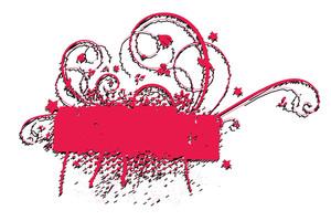 Retro Grunge Flourish Paint Banner