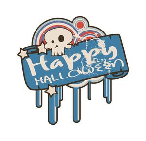 Retro Grunge Halloween Banner