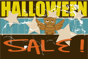 Retro Grunge Halloween Sale Poster