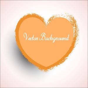 Retro Grunge Valentine Heart Vector Banner