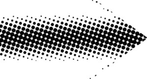 Retro Halftone Arrow