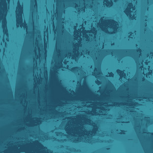 Retro Halftone Blue Love Background