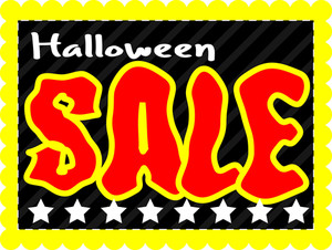 Retro Halloween Sale Banner