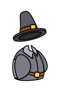 Retro Hat And Costume Vector