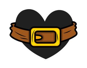Retro Heart With Belt