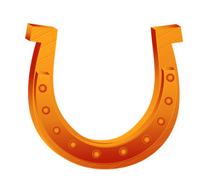 Retro Horseshoe Design Art