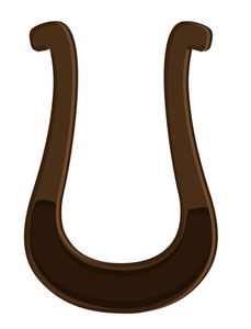 Retro Horseshoe Design Element