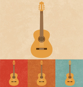 Retro Icons - Acoustic Guitar
