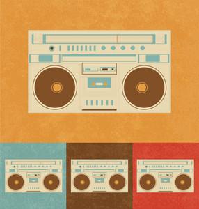 Retro Icons - Boombox