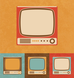 Retro Icons - Small Television Set
