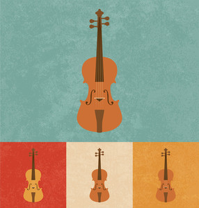 Retro Icons - Violin