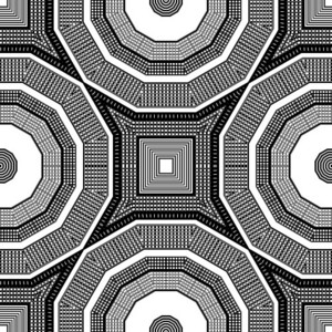 Retro Kaleidoscope Background
