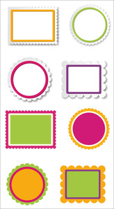 Retro Kids Photo Frames Vectors