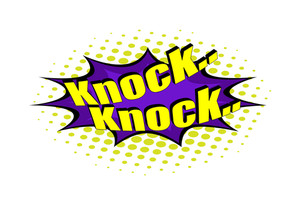 Retro Knock Text Banner