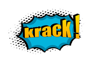 Retro Krack Graphic Text Banner