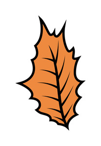 Retro Leaf Design