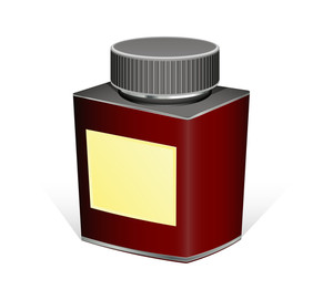 Retro Medicine Bottle Vector