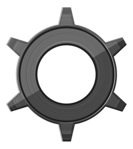 Retro Metallic Gear Wheel