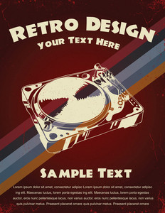 Retro Music Poster Vector Illustration