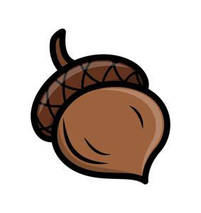 Retro Oak Nut Vector