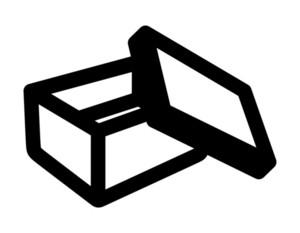 Retro Open Box Drawing