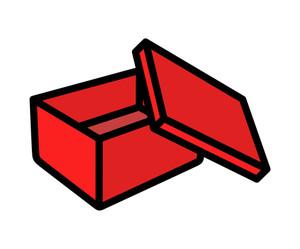 Retro Open Box Vector Shape