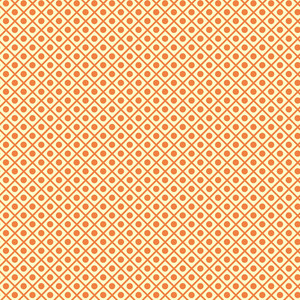 Retro Orange Polka Dots And Squares Pattern