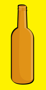 Retro Orange Wine Bottle