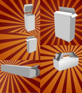 Retro Paper Boxes