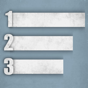 Retro Paper Numbered Banners