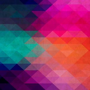 Retro Pattern Of Geometric Shapes. Colorful Mosaic Backdrop. Geometric Hipster Retro Background. Retro Triangle Background. Grunge Wallpaper