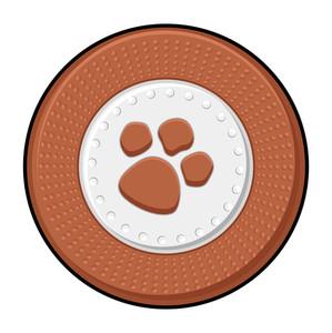 Retro Paw Symbol Coin